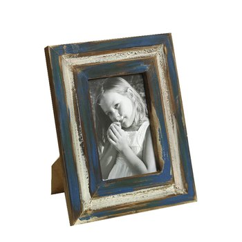 Nostalgic Blue Finish Wooden Photo Frame For Mother'S Day
