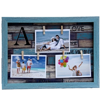 Blue Outline Collage Photoframe For Mother'S Day