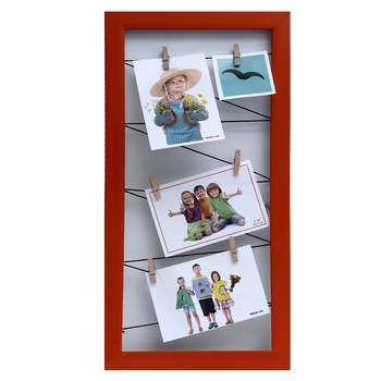 Rustic Red Vertical Collage Photoframe For Mother'S Day