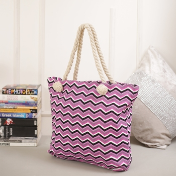 Stylish Chevron Print Hand Bag For Mother'S Day