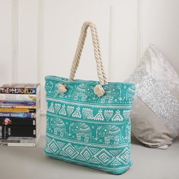 Fantastic Blue Contemporary Print Handbag For Mother'S Day