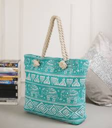Fantastic Blue Contemporary Print Handbag For Mother'S Day