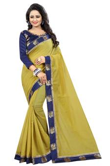 b2273a4a34f2 Mehendi Sarees Online – Buy Simple Bridal Mehndi Saree UK
