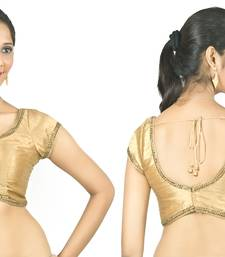 Curve. just like you. dupion silk gold padded blouse