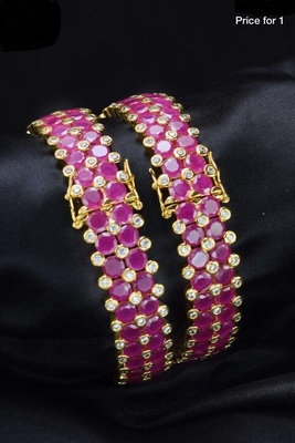 Gold Plated Ruby Bracelet