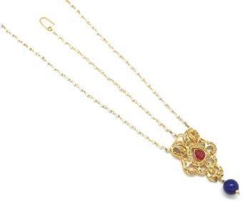 Rajwadi Style Maang Tikka And Matha Patti Decorated With Crystal