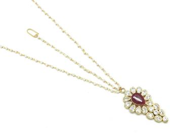 Maang Tikka And Matha Patti Decorated With American Diamond