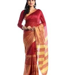 Chhabra 555 Maroon Woven Art Silk Saree With Blouse