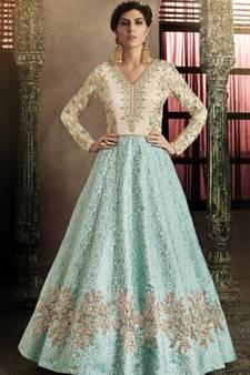 a804e5b4969e8 Silk Chiffon Salwar kameez Online | Buy Chiffon Salwar Suits @best ...