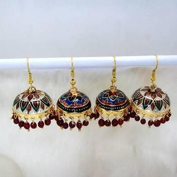 Meenakari Tokri Earring Combo 6