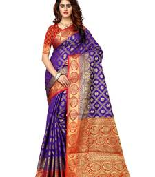 Purple woven patola saree with blouse