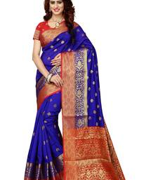 Blue woven patola saree with blouse
