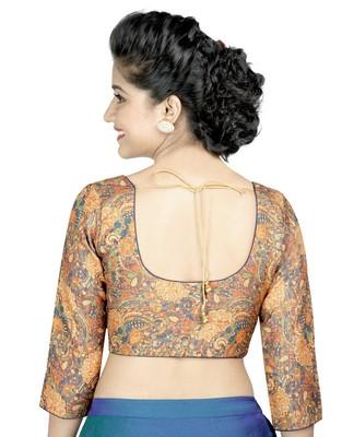 aa12e05f56eede multi kalamkari printed stitched readymade blouse - muhenera s - 2618288