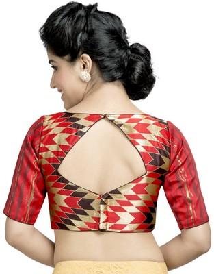 c8166a8009f0a2 multi brocade chevron print stitched readymade blouse - muhenera s - 2618289