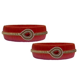Red pearl bangles