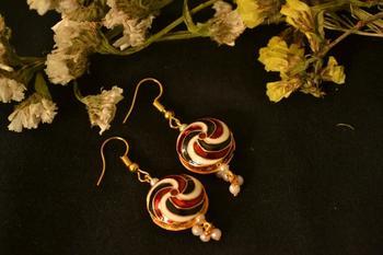 Designer Fine Detailed Meenkari Indian style Dangler earrings