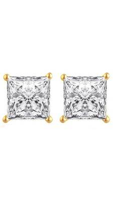 Designer simple american diamond stud for casual or office wear