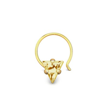 Designer golden Coloured Diamond Classic Nose Pin or Nose Ring