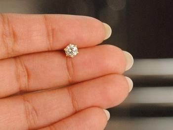 Designer Large Diamond Classic Nose Pin or Nose Ring