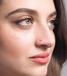Designer Coloured Diamond Classic Nose Pin or Nose Ring