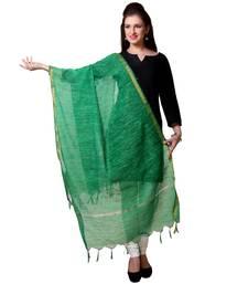 Green Chanderi woven Chanderi stole and dupattas