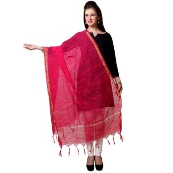 Pink Chanderi woven Chanderi stole and dupattas