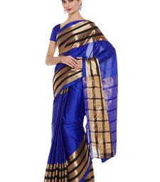 Buy Chhabra 555 Blue Woven Art Silk Sarees With Blouse all-seasons-saree online