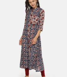 Indigo printed cotton-kurtis