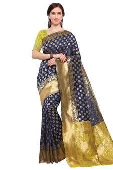 2495a756f877e9 Brocade Silk Saree Blouse Online, Buy Brocade Sarees Designs India