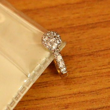 Diamond Look Gold Plated Pressable Nose Ring