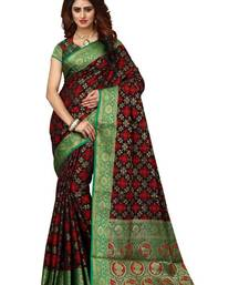 Buy Brown woven patola saree with blouse women-ethnic-wear online