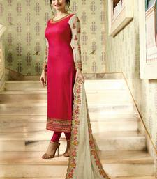 Buy Pink embroidered georgette salwar with dupatta bollywood-salwar-kameez-online online