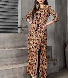 multicolor printed rayon stitched kurti