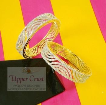 Zircon Openable Bangle Bracelet Openable Kada