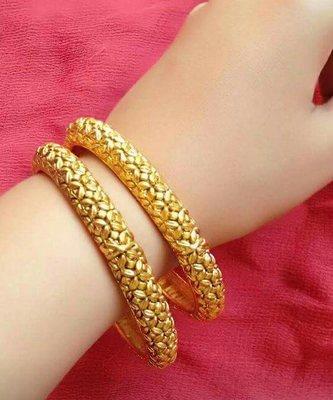 Copper Gold Lookalike 2.4 inch Bangle Set