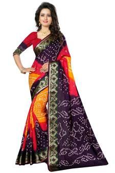 673854c7db Buy Bandhani Sarees Online, Rajasthani Bandhej silk sarees India