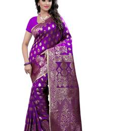 Purple  saree with blouse