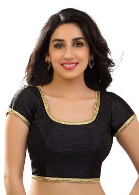 Black banglore silk unstiched blouse