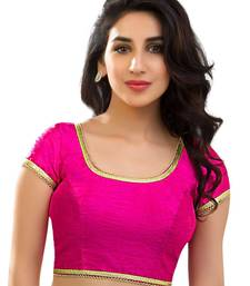 Buy Pink banglore silk unstiched blouse blouse-fabric online