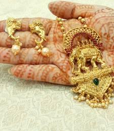 Buy Multicolor gold plated pendants women-ethnic-wear online