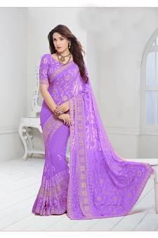724e960e301e37 Purple Colour Sarees - Buy Purple Saree online   Best Prices