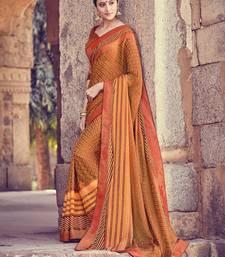 Buy Orange brasso saree with blouse brasso-saree online