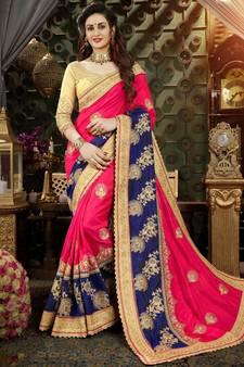 Buy Heavy Work Sarees Designs, Indian Heavy Work Wedding Sarees