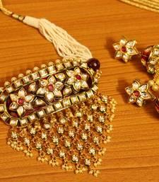 Royal Kundan Meenakari Jadau Choker Necklace Set