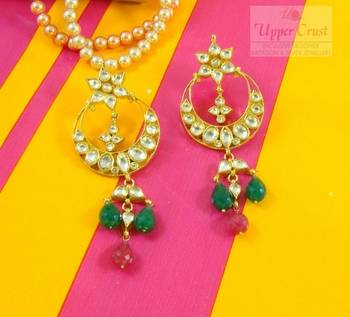 Royal Kundan Uncut Polki Earrings