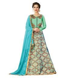 Buy Blue Color silk Wedding Wear Semi Stitched Lehenga Choli With Blouse lehenga-choli online