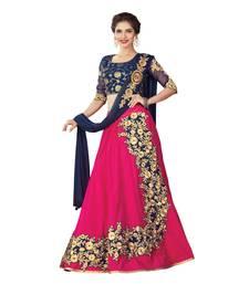 Pink Color Silk Designer Semi  Stitched Lehenga Choli