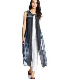 Buy Blue printed cotton kurti kurtas-and-kurtis online
