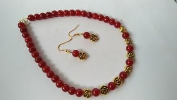 Handmade Antique Beaded Necklace Set