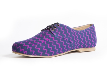 Women's Pink EVA Fabric Oxfords Shoe